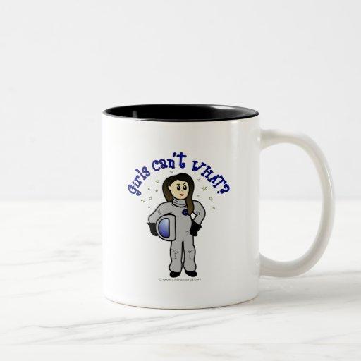Light Woman Astronaut Two-Tone Coffee Mug