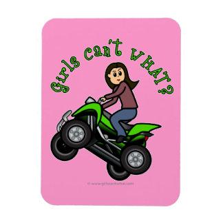 Light Woman ATV | Four Wheeler Driver Magnet