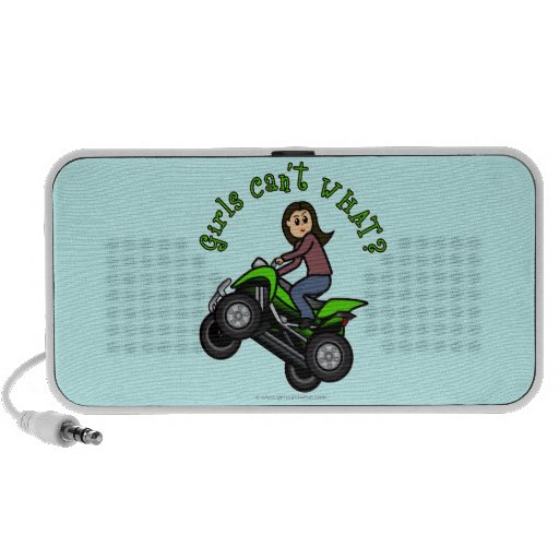 Light Woman ATV   Four Wheeler Driver Mini Speakers