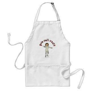 Light Woman Fencing Adult Apron