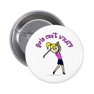 Light Woman Golfer Buttons