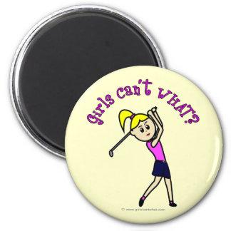 Light Woman Golfer Magnets