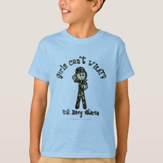 Light Woman Navy Veteran T-Shirt