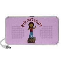 Light Woman on Soapbox Travelling Speaker