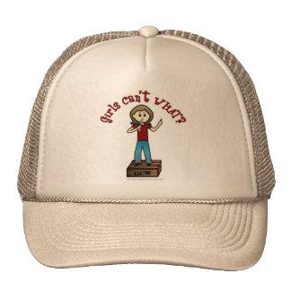 Light Woman on Soapbox Trucker Hat