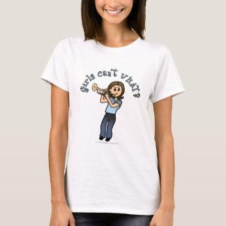 Light Woman Playing Trumpet T-Shirt
