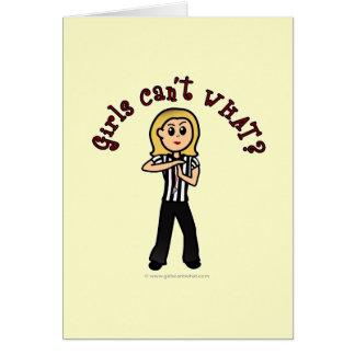 Light Woman Referee Card