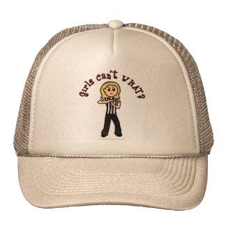 Light Woman Referee Trucker Hat