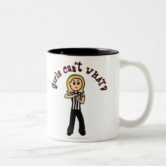Light Woman Referee Two-Tone Coffee Mug