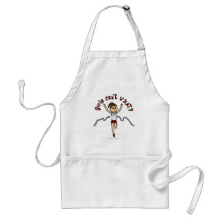 Light Woman Runner in Red Uniform Adult Apron