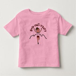 Light Woman Runner in Red Uniform Toddler T-shirt