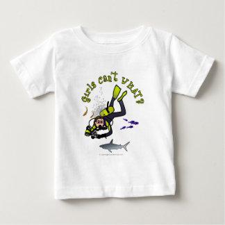 Light Woman Scuba Diver Baby T-Shirt