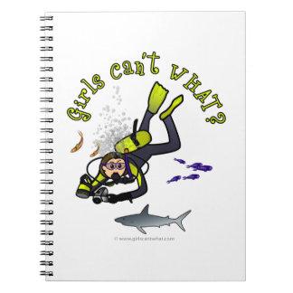 Light Woman Scuba Diver Notebook