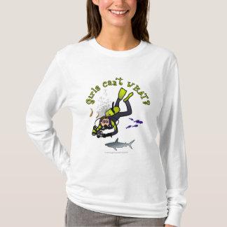 Light Woman Scuba Diver T-Shirt