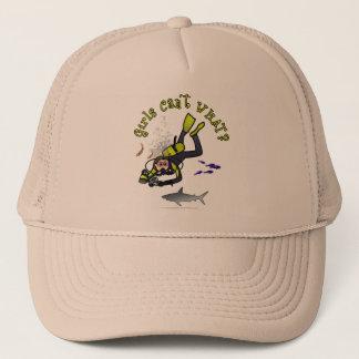Light Woman Scuba Diver Trucker Hat
