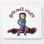Light Womens Auto Racing Mouse Pad