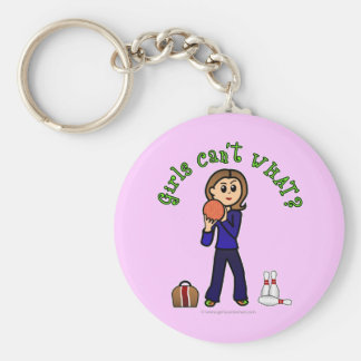Light Womens Bowling Key Chain