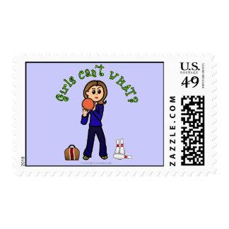 Light Womens Bowling Stamp