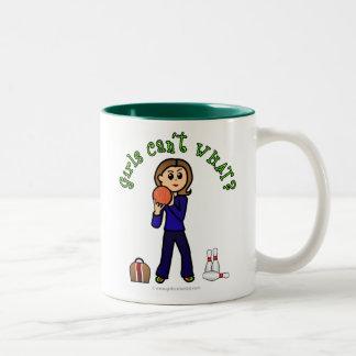 Light Womens Bowling Two-Tone Coffee Mug