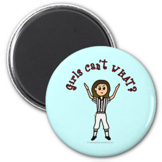 Light Womens Football Referee 2 Inch Round Magnet