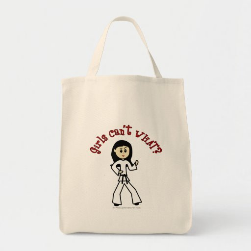 Light Womens Martial Arts Grocery Tote Bag