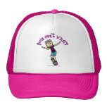 Light Womens Skateboarding Trucker Hat