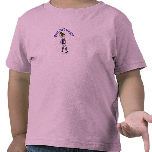 Light Womens Soccer in Blue Uniform Shirt