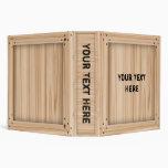 Light Wood Crate - Binder
