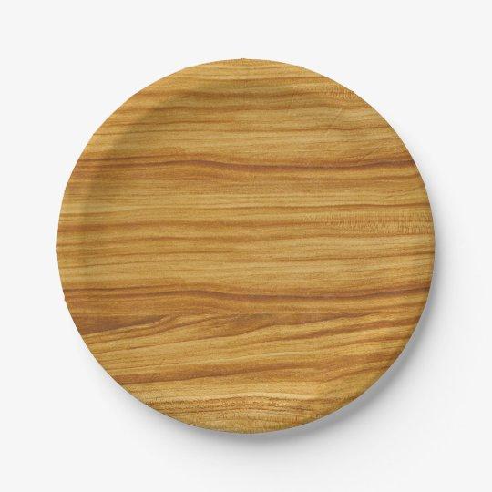 Light Wood Grain Paper Plate  sc 1 st  Zazzle & Light Wood Grain Paper Plate | Zazzle.com