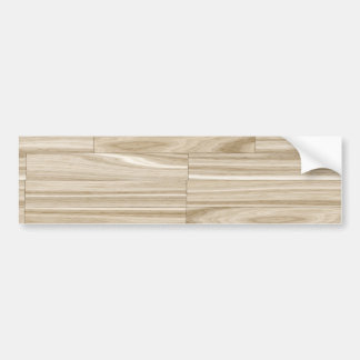 Light Wood Grain Parquet Bumper Sticker