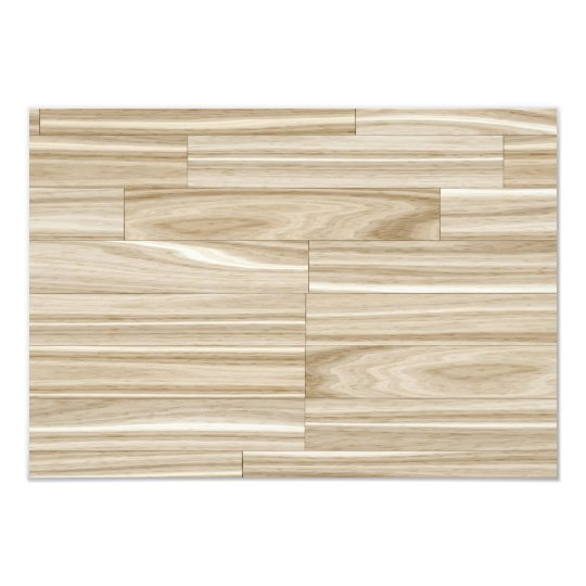 Light Wood Grain Parquet Card