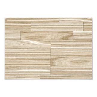 Light Wood Grain Parquet Card