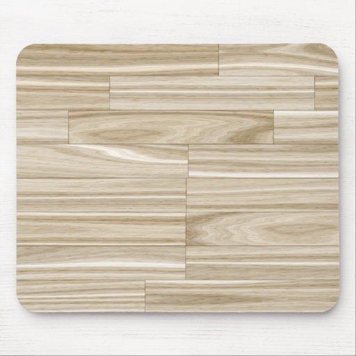 Light Wood Grain Parquet Mousepads