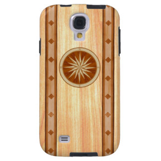 Light Wood Inlay Compass & Boarder Phone Case