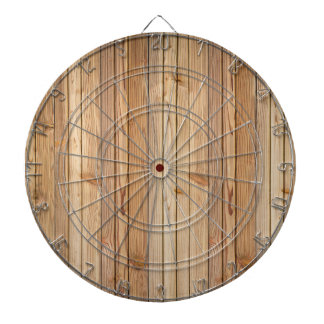Light Wood Paneling Dartboard