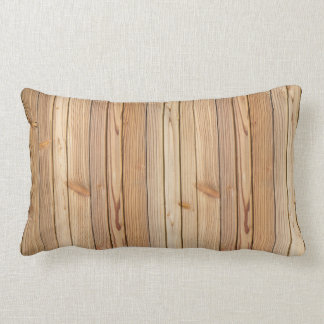 Light Wood Paneling Texture Lumbar Pillow