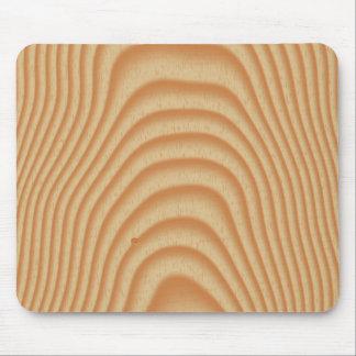 Light wood pattern mouse pad