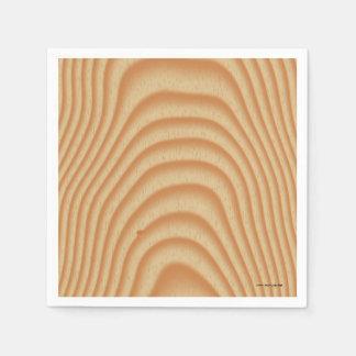 Light wood pattern paper napkin