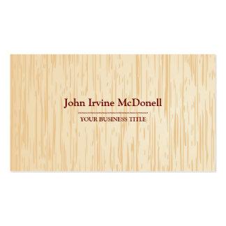 Light  Wood Texture Business Card