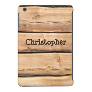 Light Wooden Rustic mini iPad Case