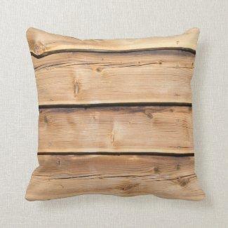 Light Wooden Rustic Pillow