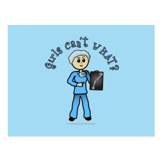 Light X-ray Technologist Girl Postcard
