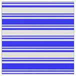 [ Thumbnail: Light Yellow and Blue Colored Lines Pattern Fabric ]
