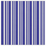 [ Thumbnail: Light Yellow and Blue Pattern of Stripes Fabric ]