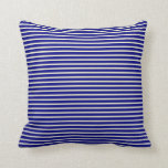 [ Thumbnail: Light Yellow and Blue Pattern Throw Pillow ]