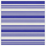 [ Thumbnail: Light Yellow and Dark Blue Lined/Striped Pattern Fabric ]