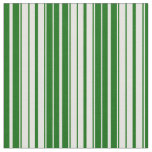 [ Thumbnail: Light Yellow and Dark Green Colored Lines Fabric ]