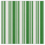 [ Thumbnail: Light Yellow and Dark Green Lined Pattern Fabric ]