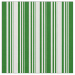 [ Thumbnail: Light Yellow and Dark Green Striped/Lined Pattern Fabric ]