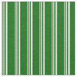 [ Thumbnail: Light Yellow and Dark Green Striped Pattern Fabric ]